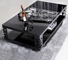 茶几茶幾簡約現代鋼化玻璃鐵藝茶幾客廳辦公時尚創意小戶型簡易方形桌JD 美物