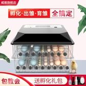 孵化器 小雞鵝鸚鵡蛋可孵化箱孵蛋孵化器小型家用型水床孵化機全自動智能LX美物居家