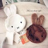 《花花創意会社》外流。MIFI兔兔毛絨刺繡零錢包。二色【H4425】