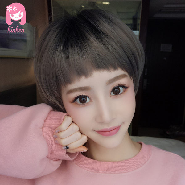 *╮Kinkee假髮╭*就是這麼俏皮 不規則 超口愛劉海 鮑伯頭 短髮 假髮【C3061 】
