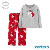【美國 carter s】 聖誕獨角獸家居服2件組套裝
