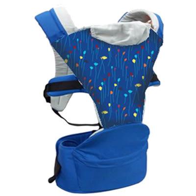 Combi 康貝 HIPSEAT-ff 折疊式坐墊背巾-藍彩帶【佳兒園婦幼館】