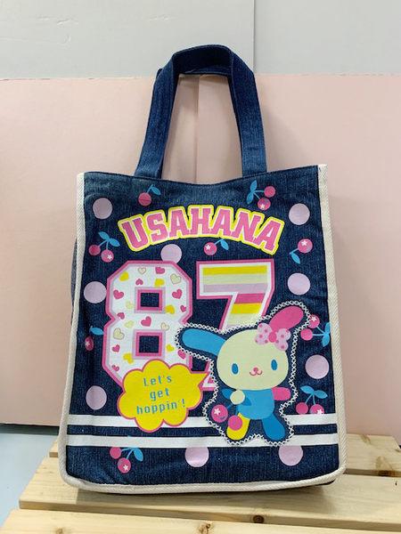 【震撼精品百貨】U-Sa-Ha-Na 花小兔 ~花小兔手提袋-藍櫻桃#27864