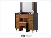 【MK億騰傢俱】CS523-05畢卡索3尺雙色化妝台(含椅)