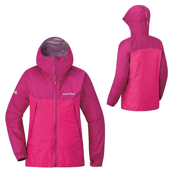 [好也戶外]mont-bell THUNDER PASS女款連帽風雨衣 紫紅/粉紅 No.1128636-PL/CP