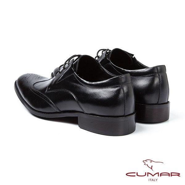 CUMAR男鞋 英式經典舒適雕花皮鞋-黑