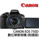 CANON 750D 附 SIGMA 18-300mm OS C版 (24期0利率 免運 彩虹公司貨) 數位單眼相機