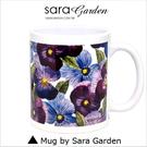 客製 手作 彩繪 馬克杯 Mug 手繪 水彩 紫羅蘭 碎花 咖啡杯 陶瓷杯 杯子 杯具 牛奶杯 茶杯