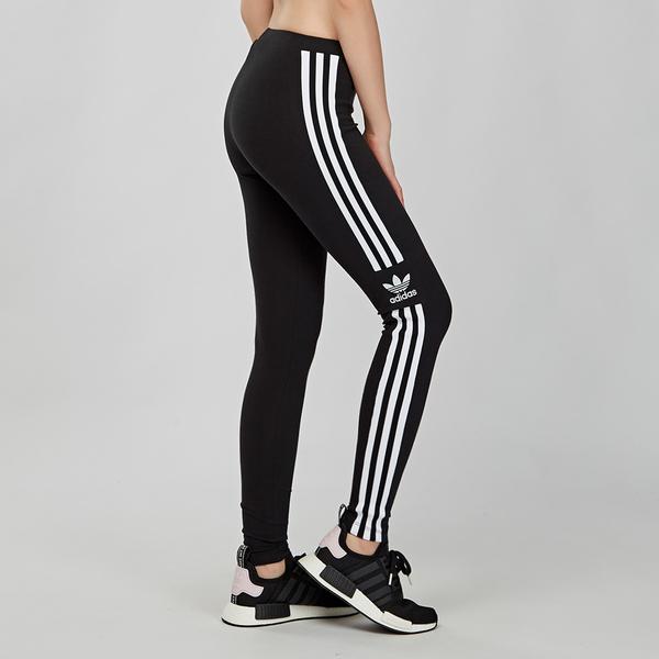 Adidas Trefoil Tights 女款 黑白 三條線 內搭 長褲 緊身褲 DV2636