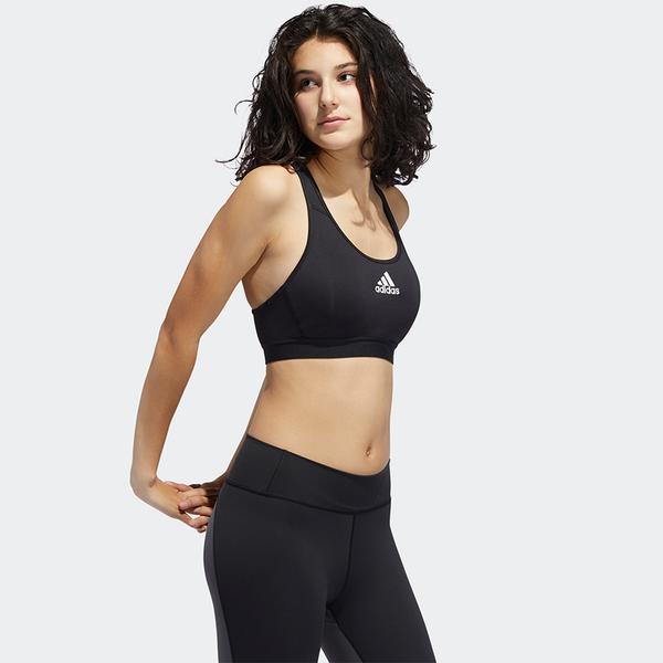 【現貨】Adidas Don't Rest 女裝 運動內衣 訓練 中度支撐 可拆式襯墊 黑【運動世界】FJ7262