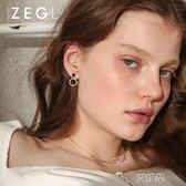 耳環耳釘氣質韓國短款耳墜百搭ins睡覺不用摘的耳環       艾維朵