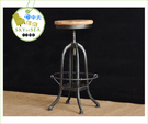 {{ 海中天休閒傢俱廣場 }}C99  復古 68-099 LOFT 工業風 鑄黑鐵實木 仿舊 吧台椅 靠背旋轉吧椅 咖啡廳