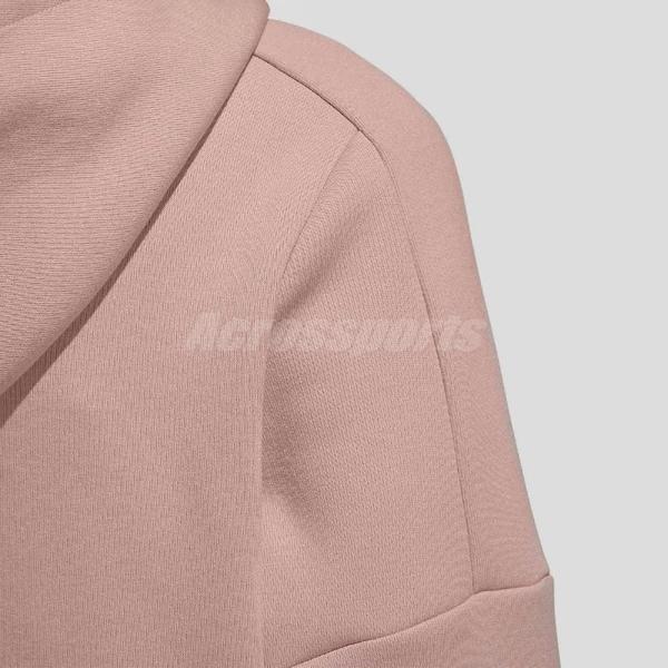 adidas 長袖T恤 MustHave Hoodie Sweatshirt 粉紅 女款 帽T 運動休閒 【ACS】 GM1422