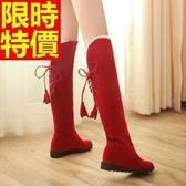 雪靴-英倫風內增高加絨高筒女長靴4色64aa38【巴黎精品】