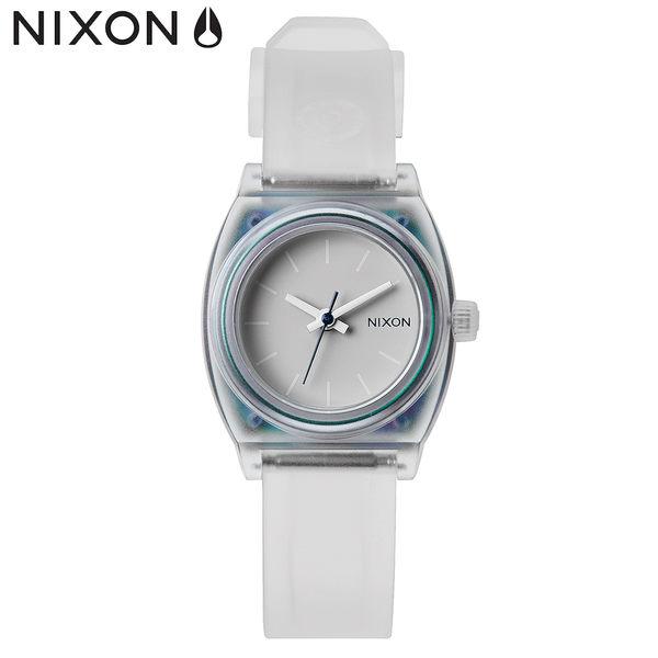 NIXON 手錶 原廠總代理A425-1779 SMALL TIME TELLER P 透明白色 潮流時尚膠錶帶 男女 生日 情人節禮物