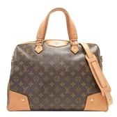LOUIS VUITTON LV 路易威登 原花拉鍊手提肩背2WAY大方包 Retiro GM M40324  BRAND OFF