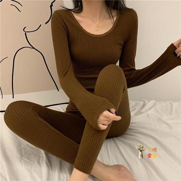 保暖衣 保暖套裝女年秋冬新款緊身可外穿冬季衛生衣秋褲兩件套