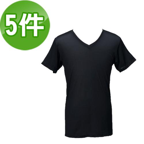 《台塑生醫》Dr's Formula冰晶玉科技涼感衣-男用短袖款(黑)五件/組