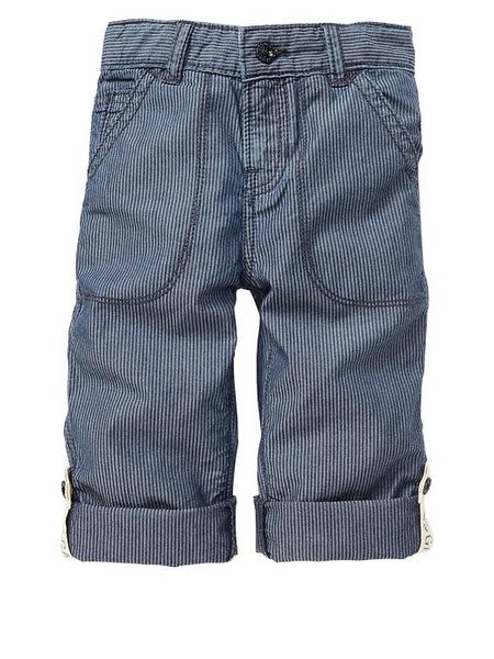 【BJ.GO】美國GAP 小童_Convertible striped jeans 小小紳士細股條紋反折牛仔褲 2013 新品現貨