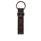 【LV】Monogram Dragonne 銀釦鑰匙圈 M62709