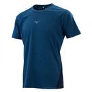 MIZUNO Slim FIT 男裝 短袖 慢跑 運動 吸汗 快乾 合身 休閒 藍【運動世界】K2TA150214