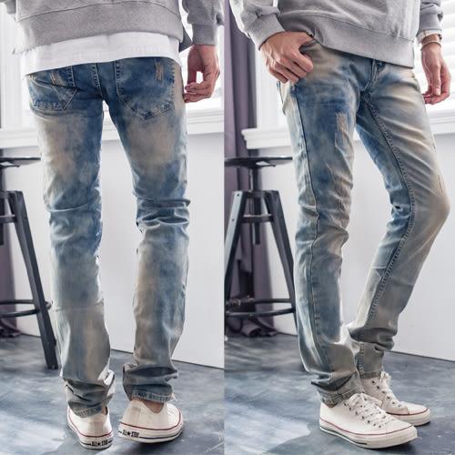 高磅數美式復古牛仔褲