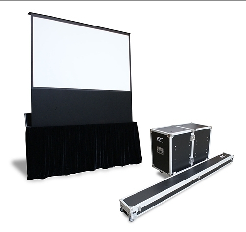 億立 Elite Screens 150吋 FE150H-TC頂級移動式電動上升舞台幕16:9比例