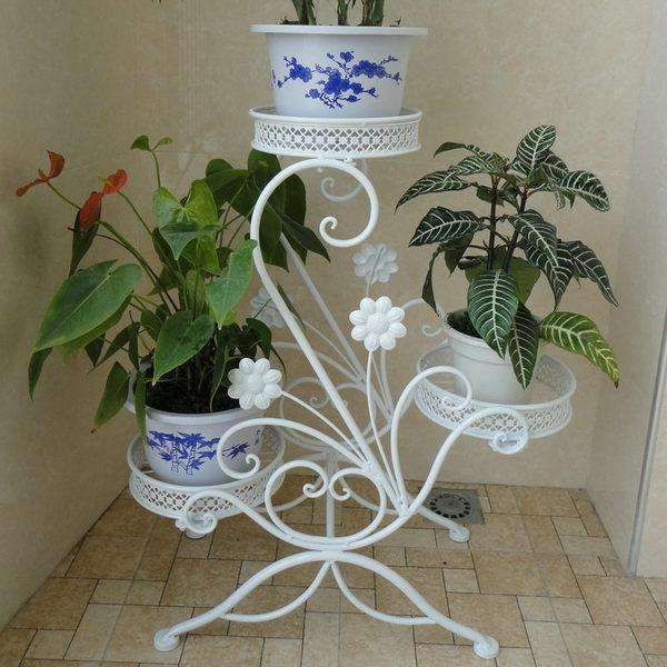 歐式風格 仿古鐵藝花架