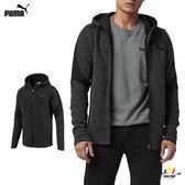Puma Evostrips 鐵灰 男款 外套 基本系列 棉質 外套 連帽外套 85375701