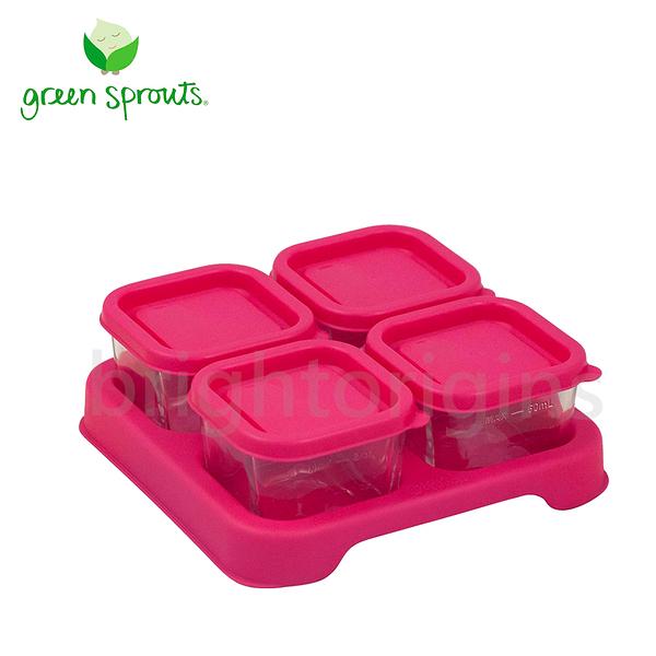Green Sprouts副食品小分裝盒60ml一組4入(玻璃)-粉色