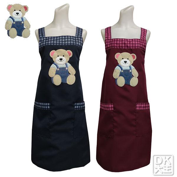台灣製 曼頓熊貼布繡圍裙【DK大王】