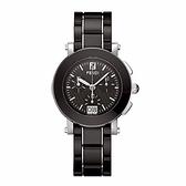 FENDI 典雅時尚仕女腕錶/陶瓷錶帶/黑/38mm/661110