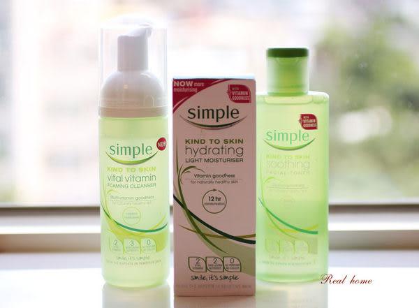 *禎的家*英國 simple (就是簡單)*清爽保濕系列 簡單基礎保養組- 敏感性肌膚可用