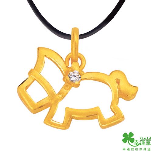 幸運草金飾 先馳得點 純金墜飾 送項鍊
