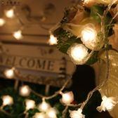 led彩燈閃串燈喜慶圣誕樹玫瑰花情人婚慶創意結婚用品春裝飾【618又一發好康八折】