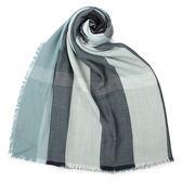 BURBERRY 輕盈格紋莫代爾羊毛絲綢圍巾(淺灰綠色)089533