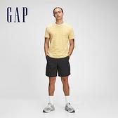 Gap男裝 棉質舒適圓領短袖T恤 530924-黃色條紋