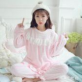 珊瑚絨孕婦睡衣冬季加厚加絨套裝懷孕期純棉產后哺乳月子服 QQ14746『東京衣社』