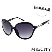【南紡購物中心】【SUNS】ME&CITY 歐美祕戀閃耀黑太陽眼鏡 義大利設計款 抗UV(ME120015 L000)