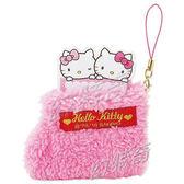 日本kitty毛襪造型吊飾附100張迷你便條紙524411【sanrio 50周年】