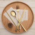 【HIP Outdoor】奢華精品環保餐具六件組 304不鏽鋼 筷子 湯匙 叉子 吸管 收納套 六件組
