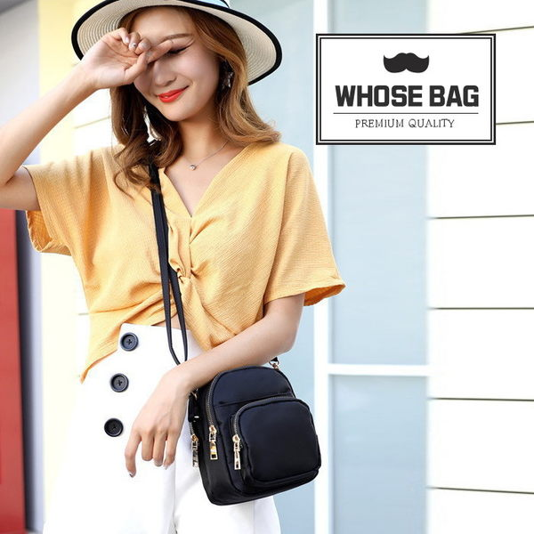【WHOSE BAG】韓國嚴選多層收納防水尼龍側背包 NO.WB1052