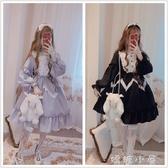 洋裝逗醬原創【愛麗絲夢遊仙境】夏日Lolita蕾絲花邊大裙擺軟妹洋裝  嬌糖小屋