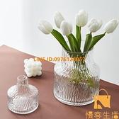 北歐風格簡約透明花瓶水養鮮花玻璃插花瓶擺件裝飾【慢客生活】