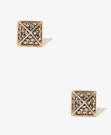 時尚 極簡風 誇張 陽光 水鑽方型耳環 FOREVER21 (3色)  B224  / 一對199元 情人節禮物【Vogues唯格思】