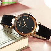 新款女錶石英手錶時尚氣質學生禮品真皮錶帶手錶《小師妹》yw44