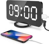 """【美國代購】數位鬧鐘 大6.5"""" LED 易於閱讀的夜燈調光器顯示時鐘"""