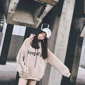 帽T 冬季衛衣女韓版學生潮加絨加厚連帽外套原宿bf印花寬鬆百搭上衣女