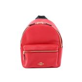 【COACH】經典馬車LOGO荔枝紋皮革後背包(小)(紅莓) F28995 IMDN8