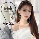 流蘇髮箍 發箍女成人可愛甜美外戴壓發頭飾韓國簡約百搭假耳環流蘇吊墜發卡 快速出貨